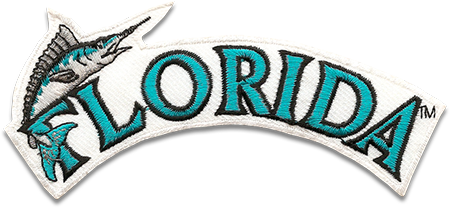 Florida Marlins Sports Logo Patch Patches Collect Collection Sports Emblem Emblems Insignia Baseball Embroidery Mlb Logos Sports Logo Logos