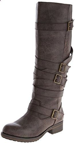 9d388a54397 Madden Girl Women's Lilith Motorcycle Boot,Brown,8 M US | Women's ...