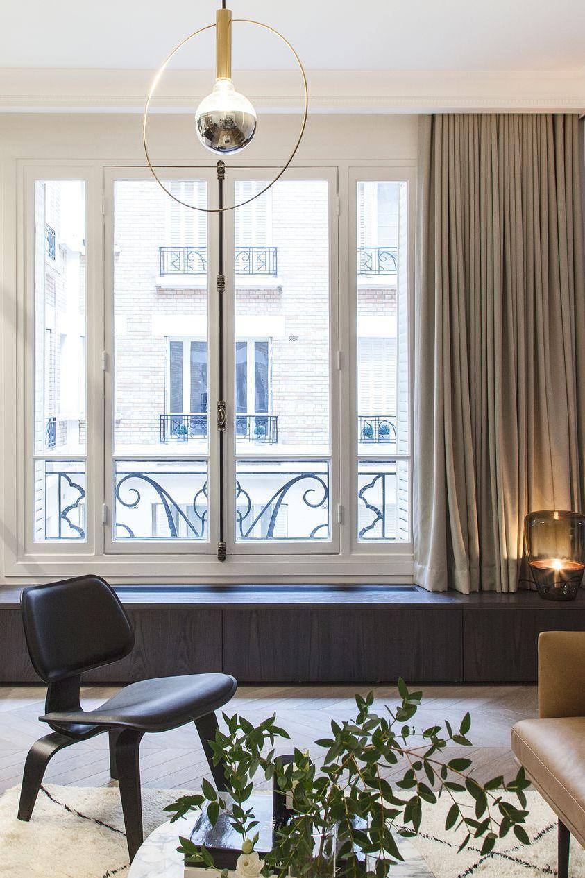 Vivre Dans Les Travaux appartement paris 16 : 65 m2 raffinés avec verrière