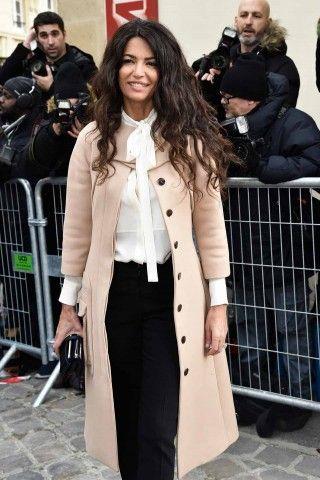 Afef Jnifen alla sfilata Christian Dior Haute Couture Primavera Estate 2017 a Parigi.