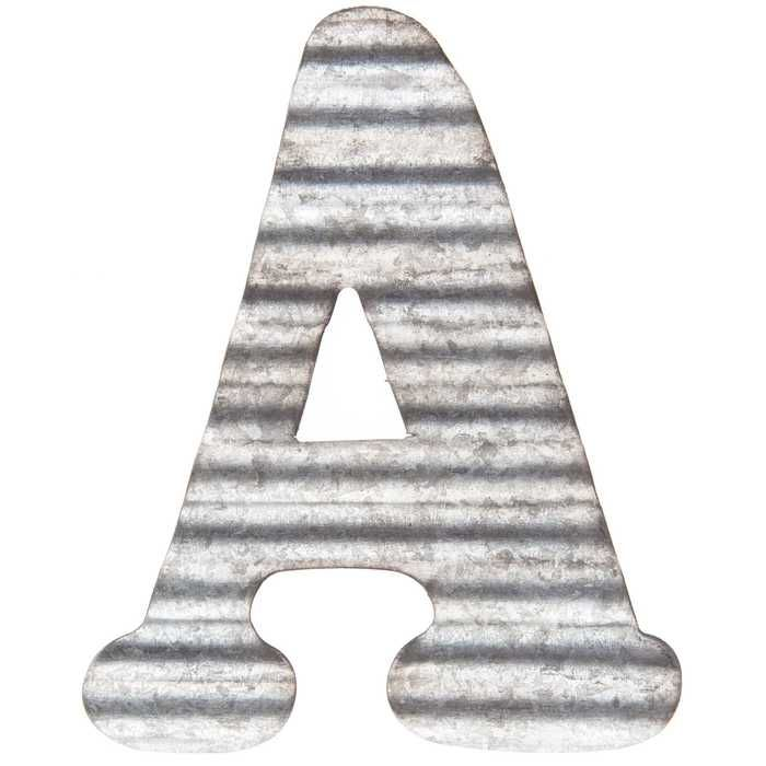Corrugated Metal Letter Wall Decor A Metal Letter Wall Decor Metal Wall Letters Letter Wall Decor