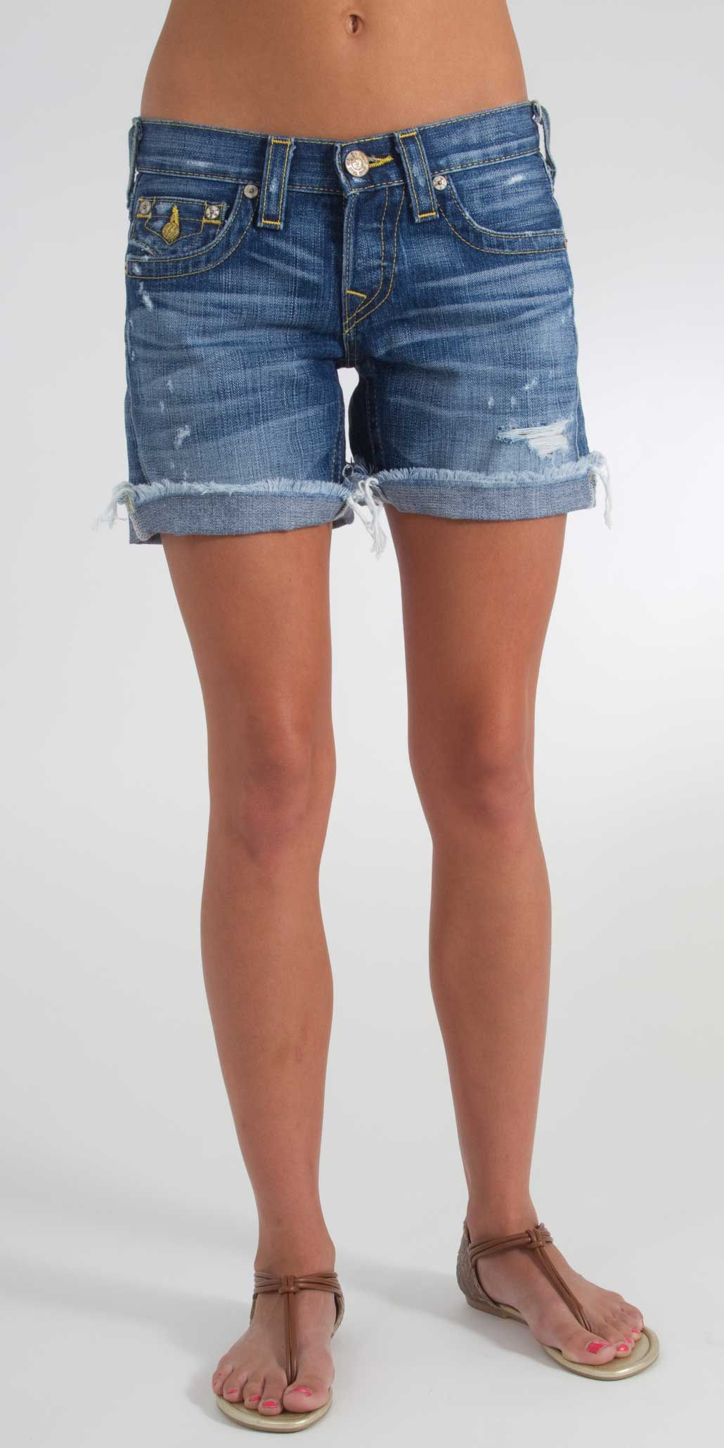 I have a pair of these but they weren't $246.00!!True Religion Jayde Gold Vintage Short in Missouri - $246.00