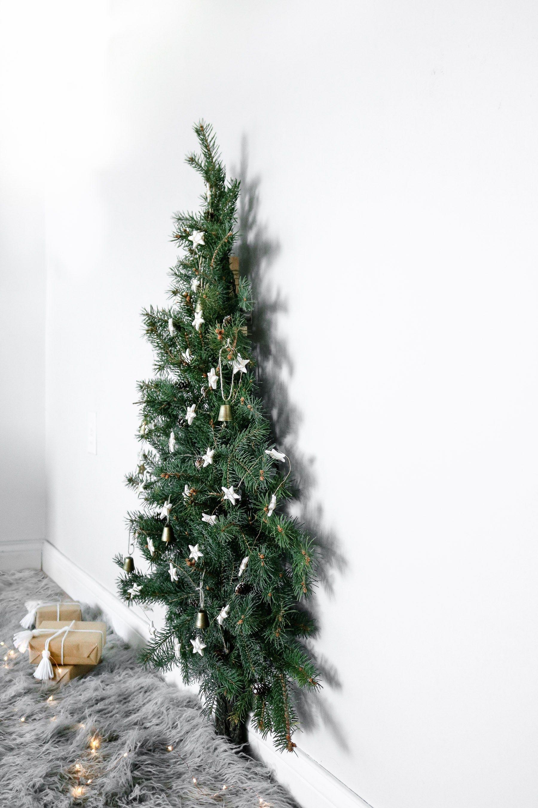 Space Saving Christmas Tree Wall Mounted Christmas Tree Creative Christmas Trees Wall Christmas Tree