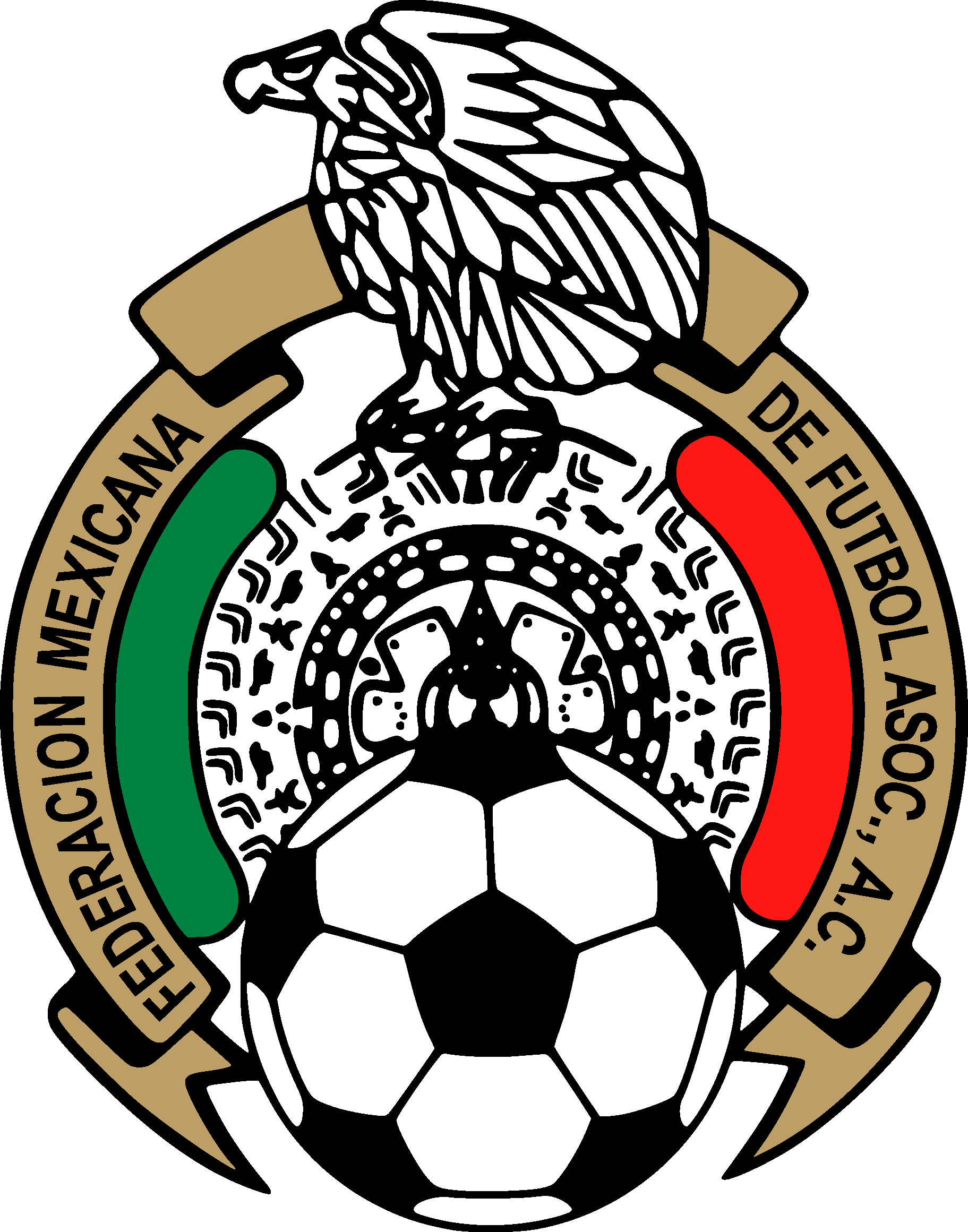 f248545b0fe33 Mexican Football Federation   Mexico National Football Team Logo  PDF   Vector EPS Free Download