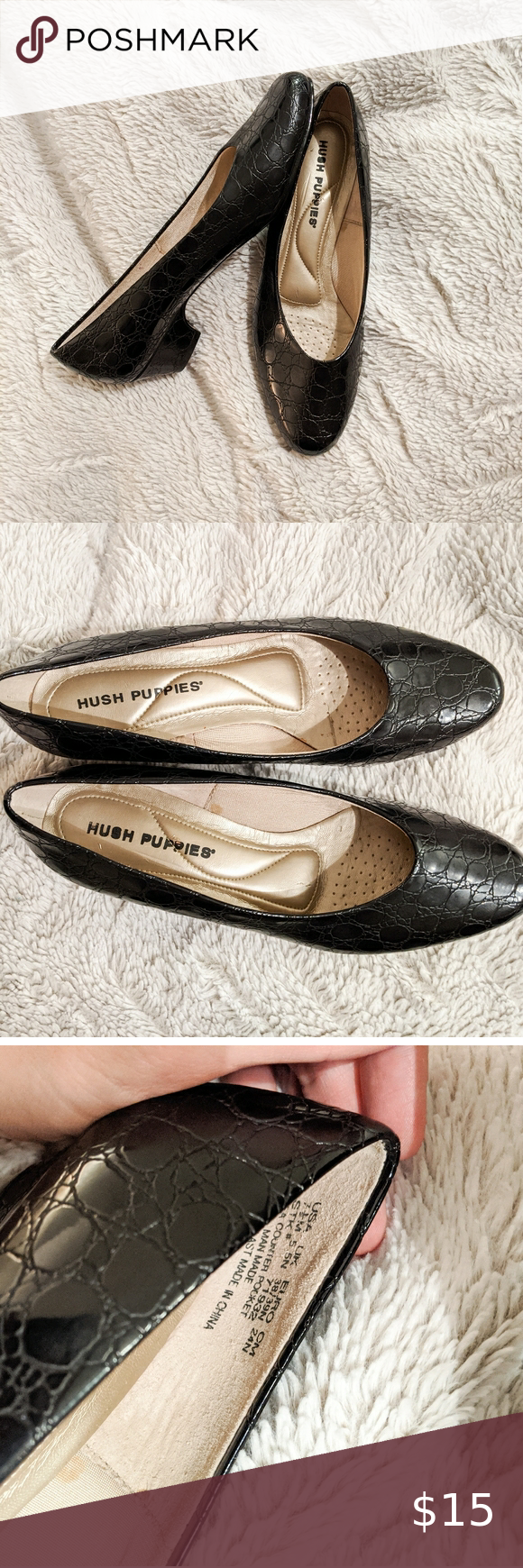 Black Patent Kitten Heels Black Patent Kitten Heels Soooooo Perfect As The Black Shoe Staple For Your Close In 2020 Kitten Heels Hush Puppies Shoes Shoes Women Heels