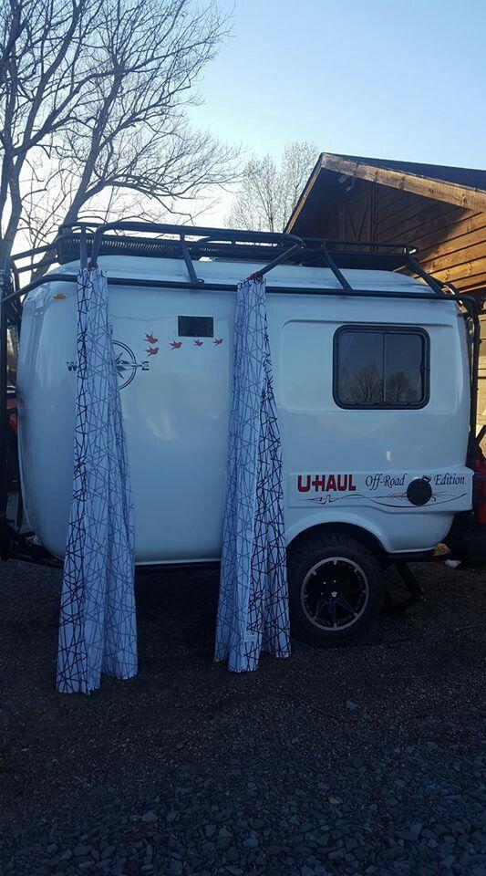 Uhaul camper outdoor shower/potty room | UHaul Camper | Pinterest