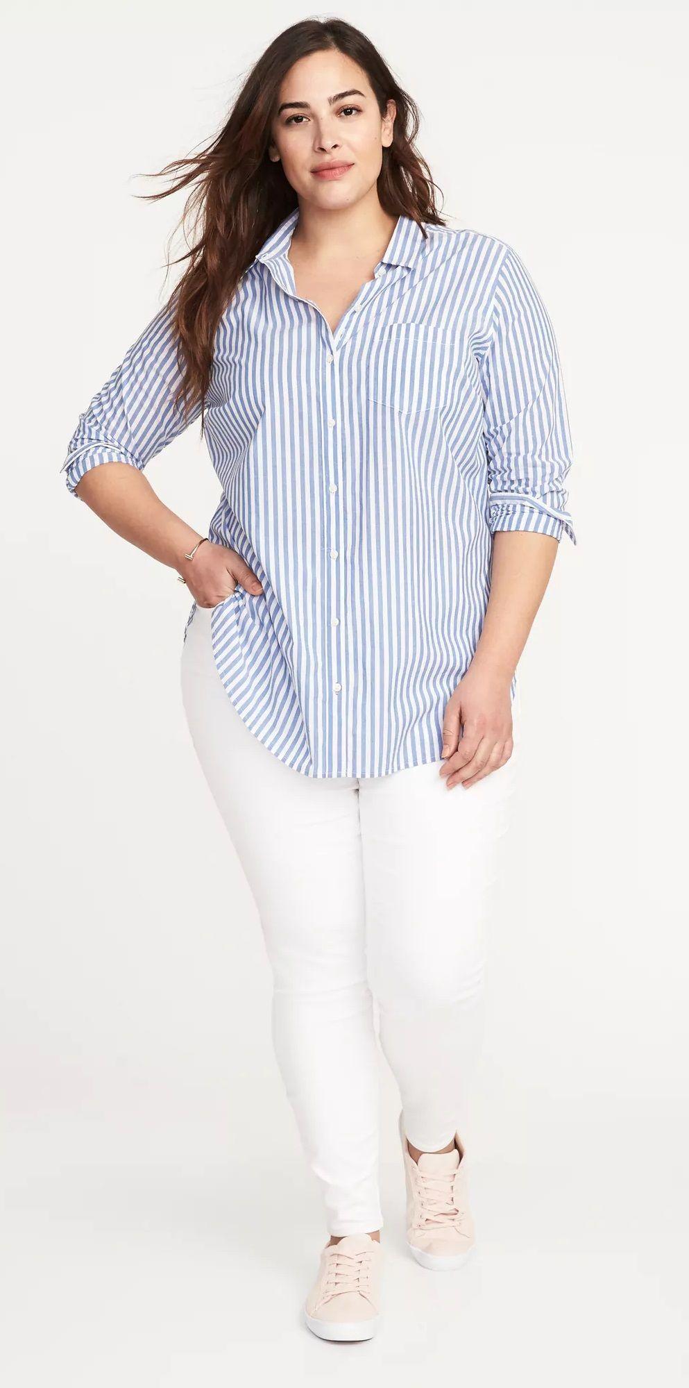 White Dress Shirt Plus Size - DREAMWORKS