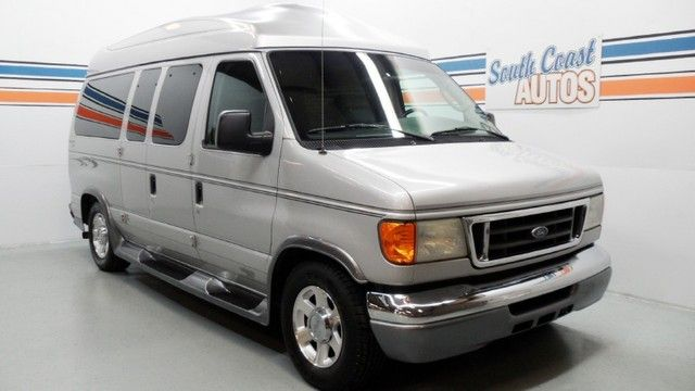 Silver 2004 Ford Econoline Cargo Van High Top Recreational Wagon