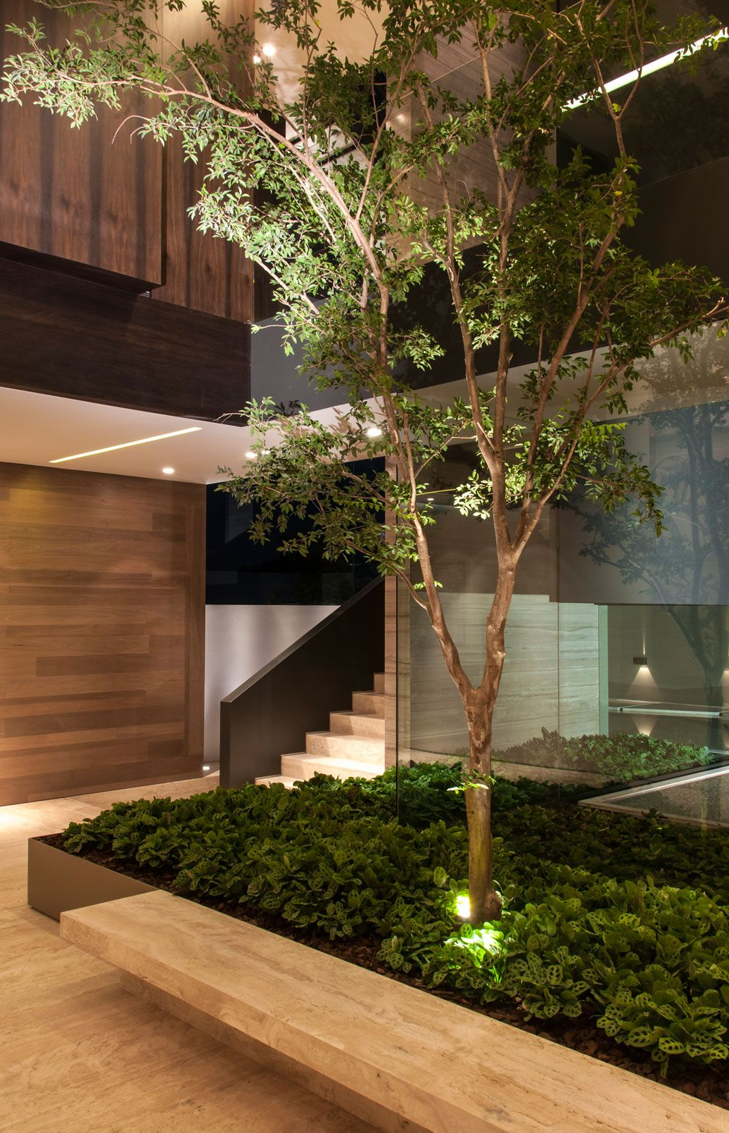 Attractive Outdoor House Plan With Interior Courtyard And Rooftop Garden | Architects,  House And Front Doors Awesome Design