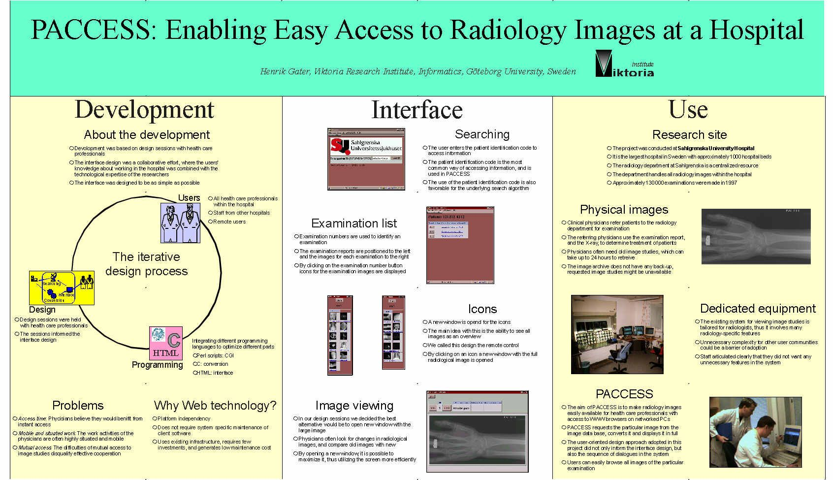 scientific posters with case examples