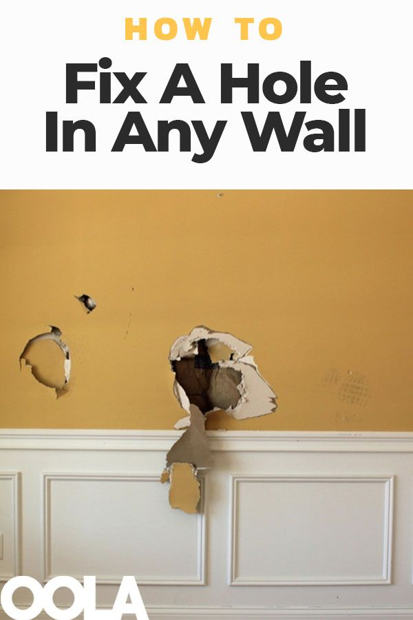 how to fix a hole in any wall being a landlord wall on simple effective and easy diy shelves decorations ideas the way of appearance of any space id=96948