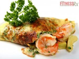California Shrimp Omelet: Traditional breakfast turned healthy dinner