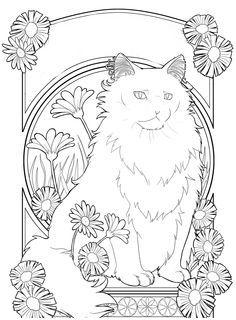 Pin Von Faindef Auf Just Cats 3 And A Few Dogs Malvorlagen Tiere Jugendstil Malerei Ausmalbilder