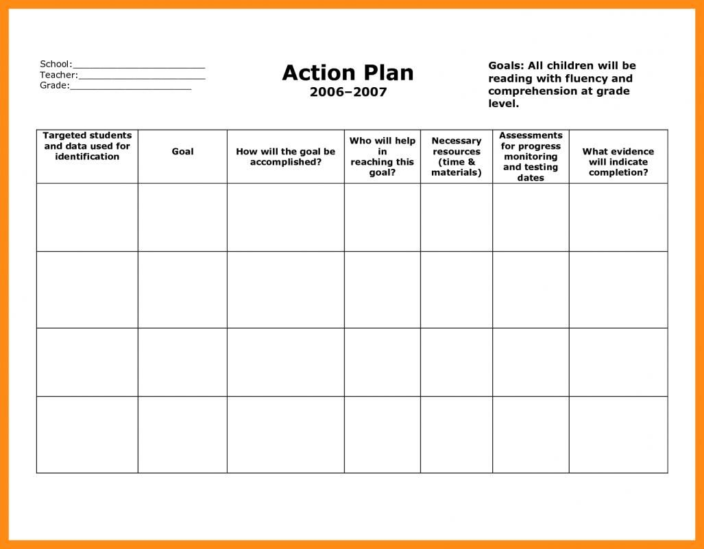 Action Plan Template Excel With Images Action Plan Template