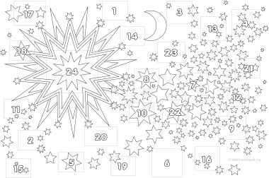 malvorlagen-adventskalender | engel zum ausmalen, adventkalender, superhelden malvorlagen