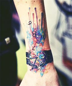 Watercolor Tattoo Love The Explosions Of Colour Watch