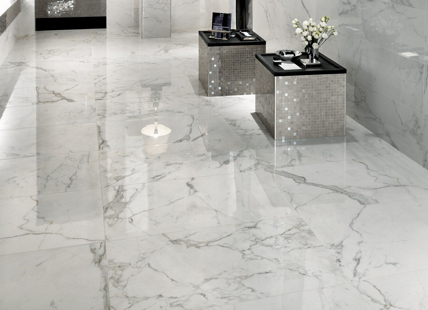 Marvel calacatta extra polished 065 herzog roof pinterest marvel marble look porcelain tile dailygadgetfo Images