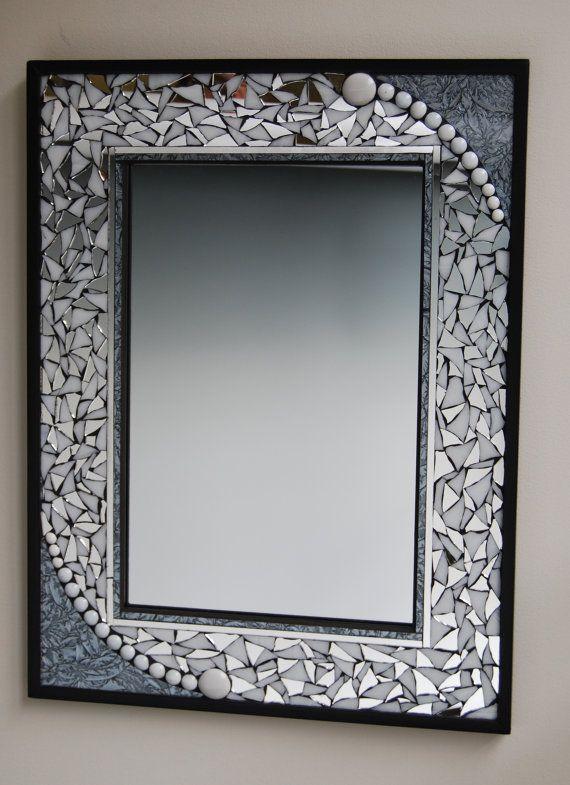 Mosaic mirror | Pinterest | Enmarcado espejo, Baño de visitas y Mosaicos