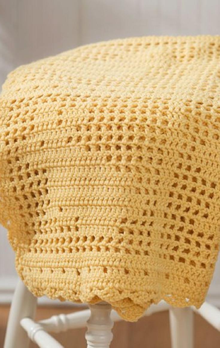 Free Filet Crochet Pattern – Easter Blanket | Crochet plans ...