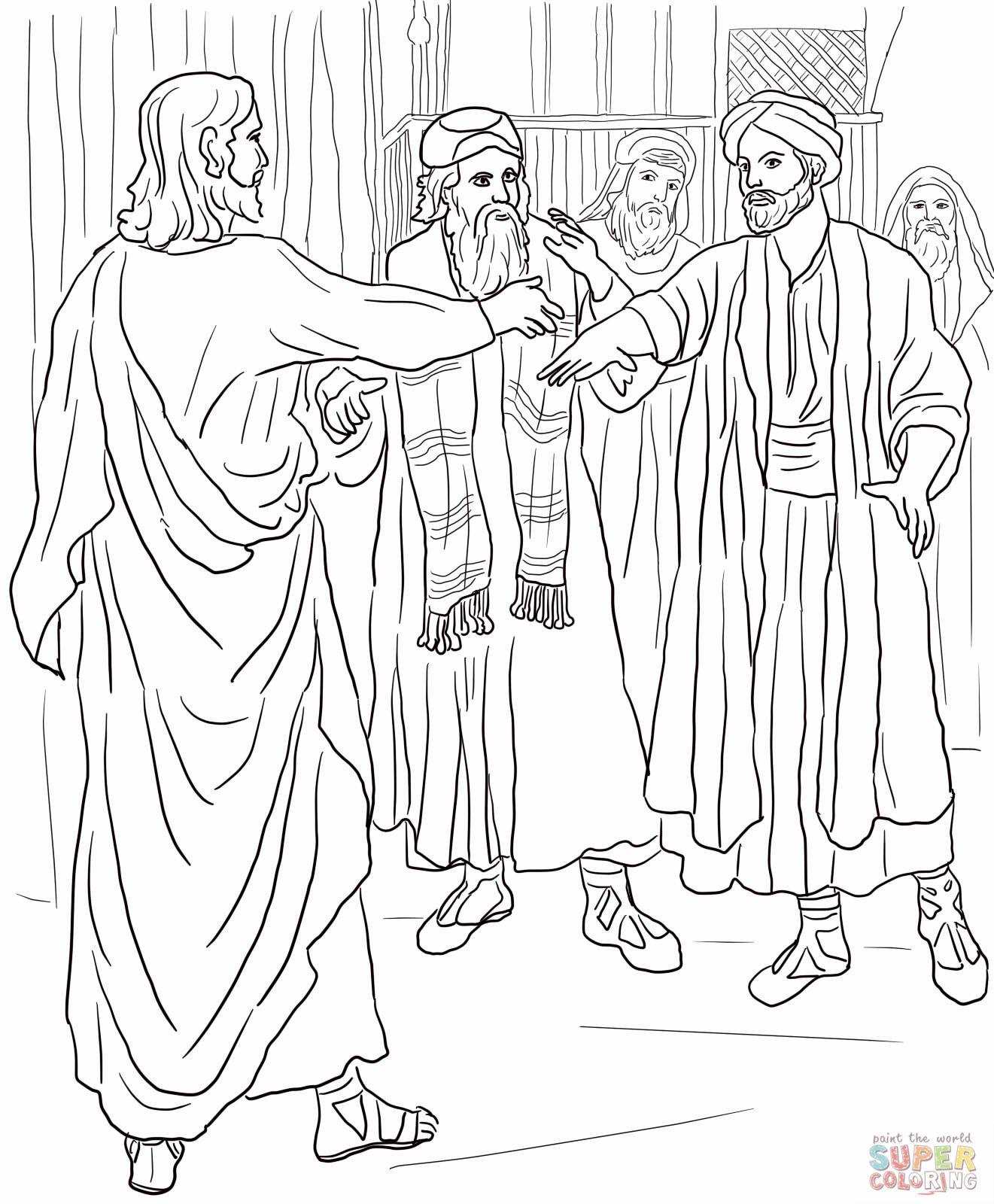 Jesus heals a man 39 s deformed hand