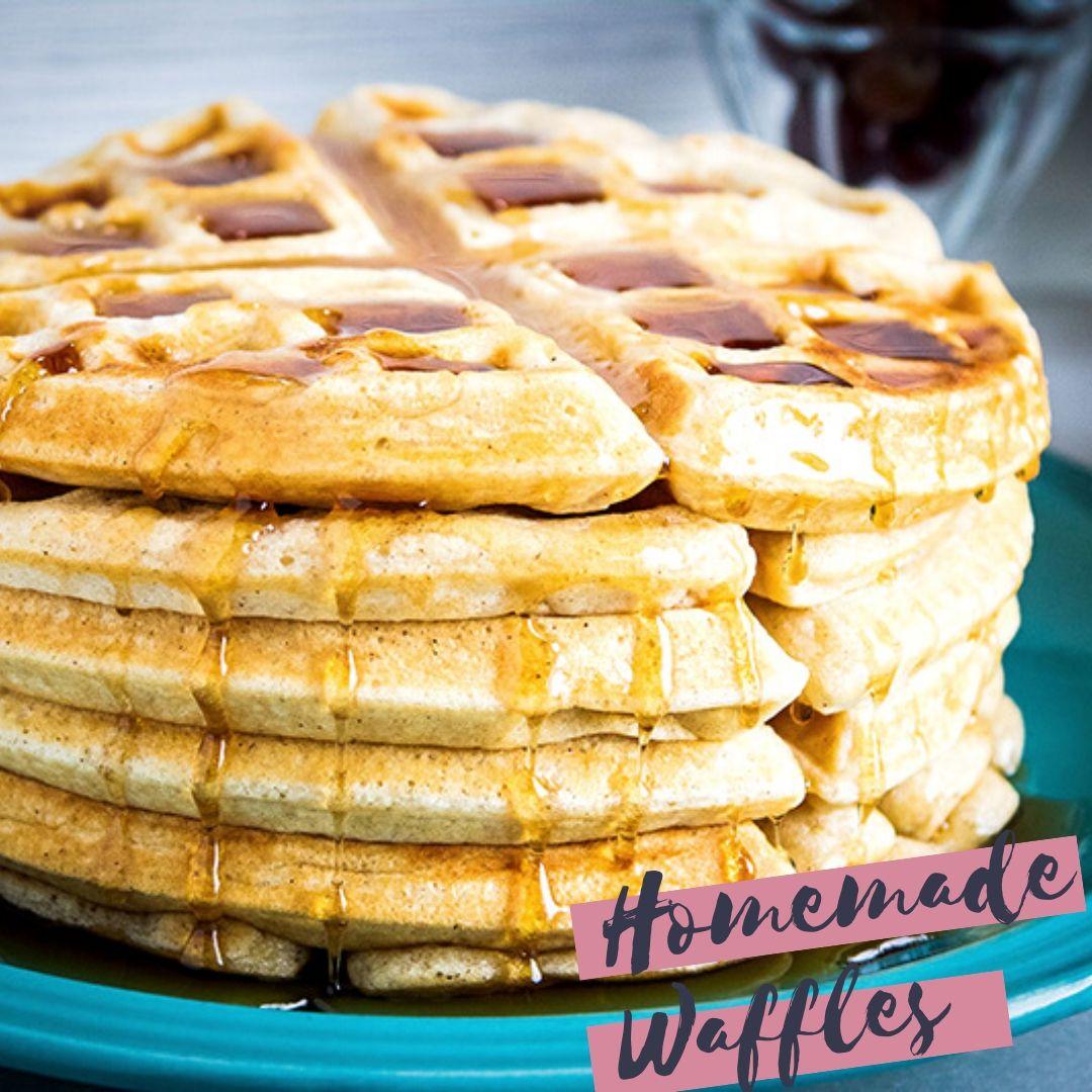 Buttermilk Waffles Video In 2020 Buttermilk Waffles Homemade Buttermilk Easy Waffle Recipe