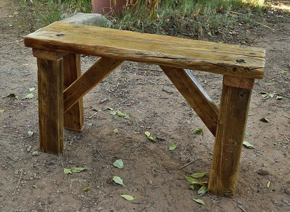 Rustic Bench, Recycled Wood, Rugged Furniture, Cabin Furniture, Hand Made,  Antique