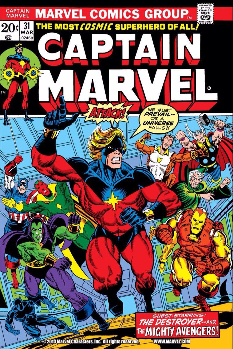 captain marvel bande dessinee