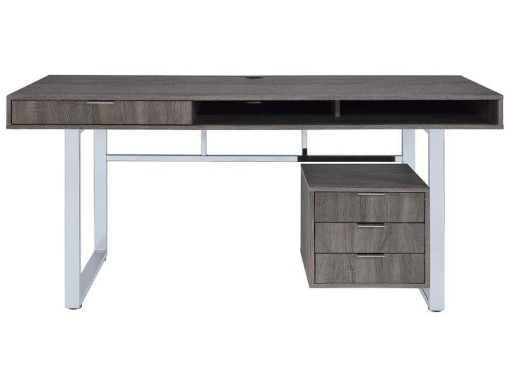Lawrence Collection 801897 Weathered Grey Desk Coaster Furniture