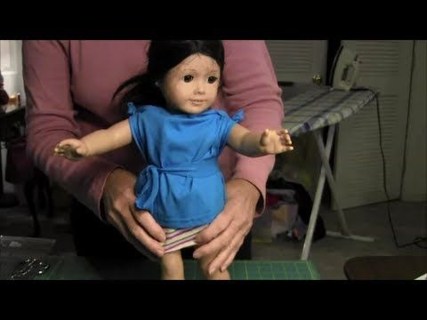 "No-Sew T-Shirt for American Girl Doll (18"" Doll) - YouTube"