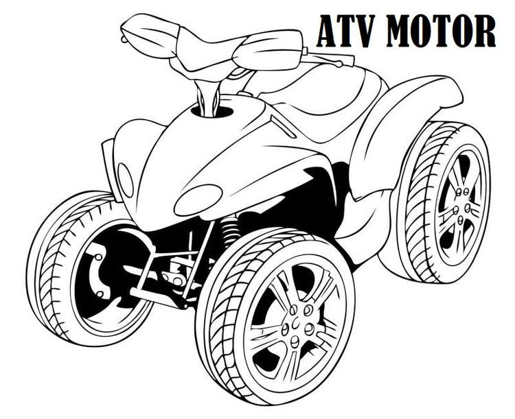 Four Wheeler Atv Motor Coloring Sheet Monster Truck Coloring Pages Kitty Coloring Mermaid Coloring Pages