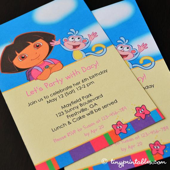 Dora birthday invitations katies day ideas pinterest dora birthday invitations filmwisefo