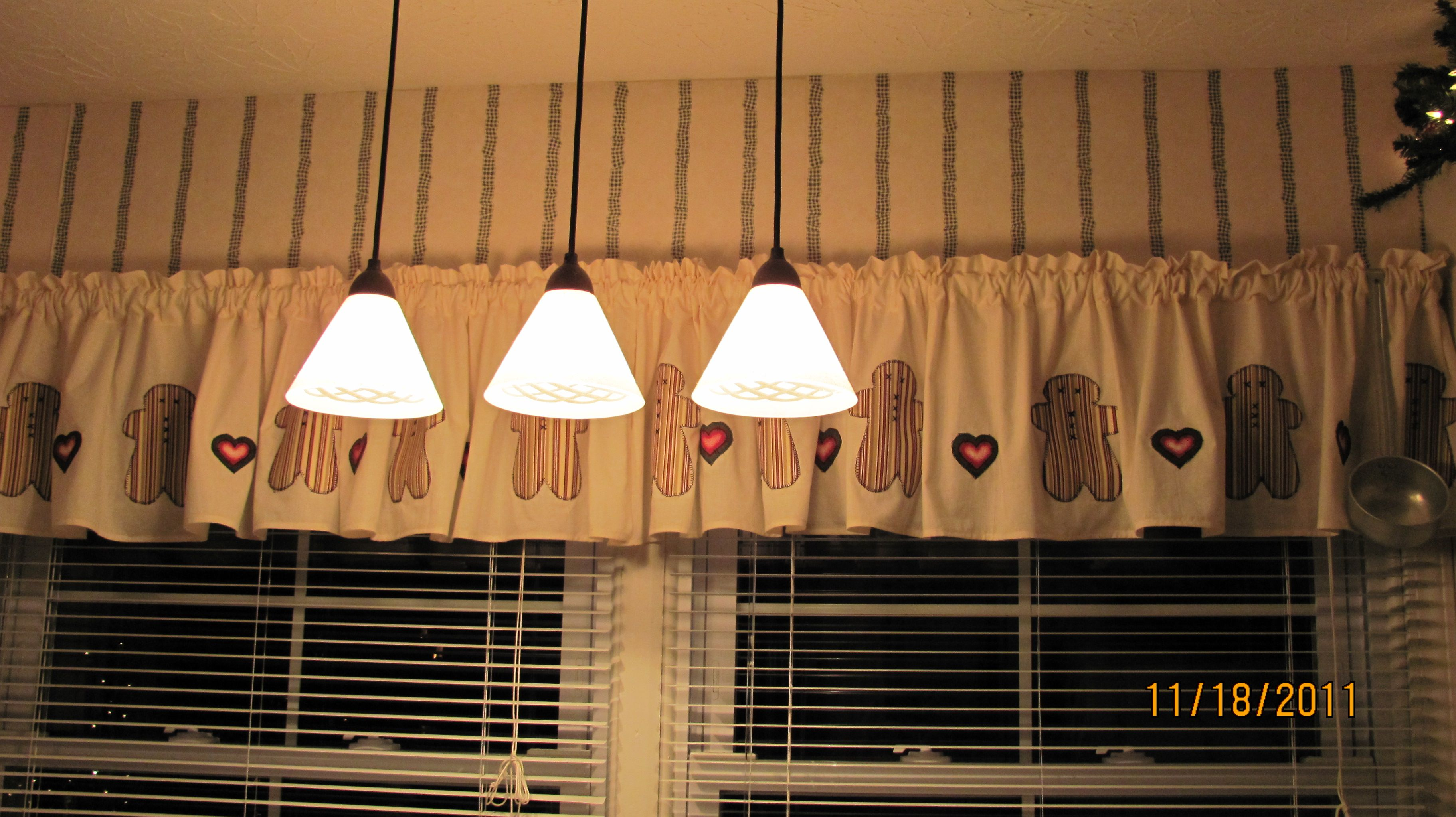 Gingerbread Curtains I Made For Kitchen