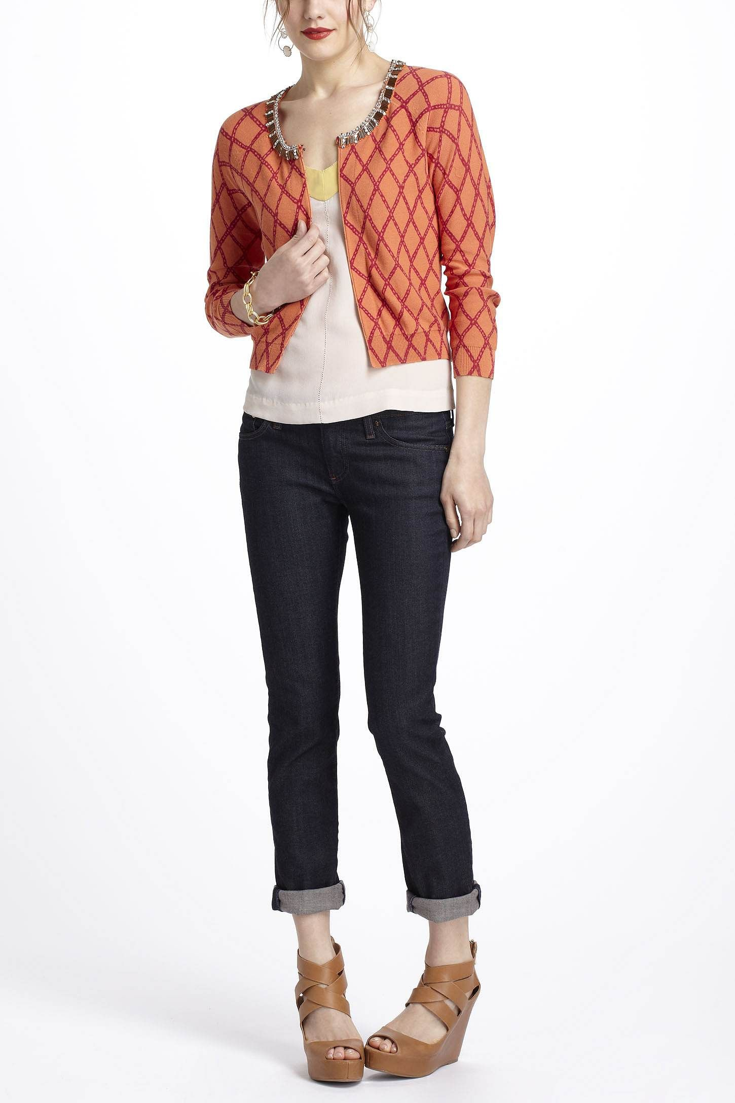 Anthropologie...Lattice-In-The-Rough Cardigan...Love the sweateer and the look of the outfit