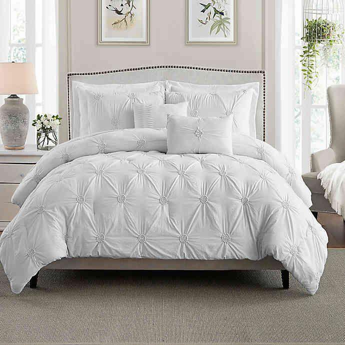 Swift Home Floral Pintuck Comforter Set Comforter Sets