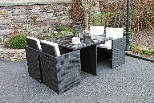 Culcita Garden Furniture Set  Seater Cube Rattan Set with