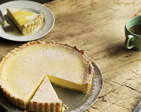 Jamie Oliver's Lemon and mascarpone tart with lime syrup
