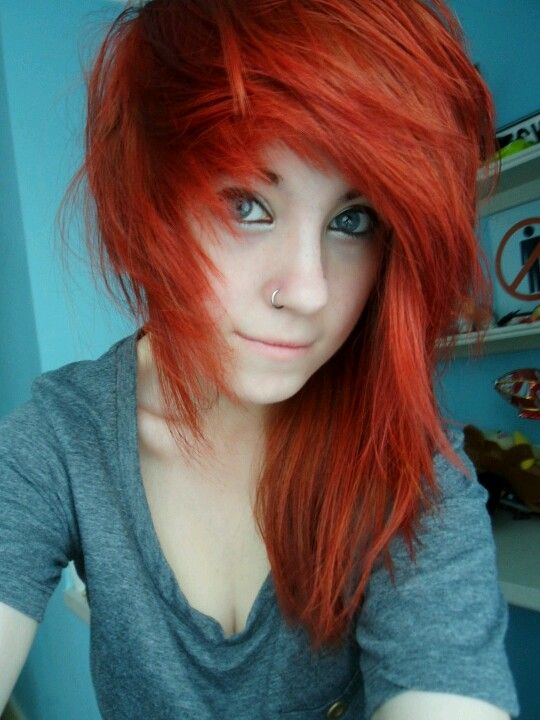 red orange dyed hair ideas