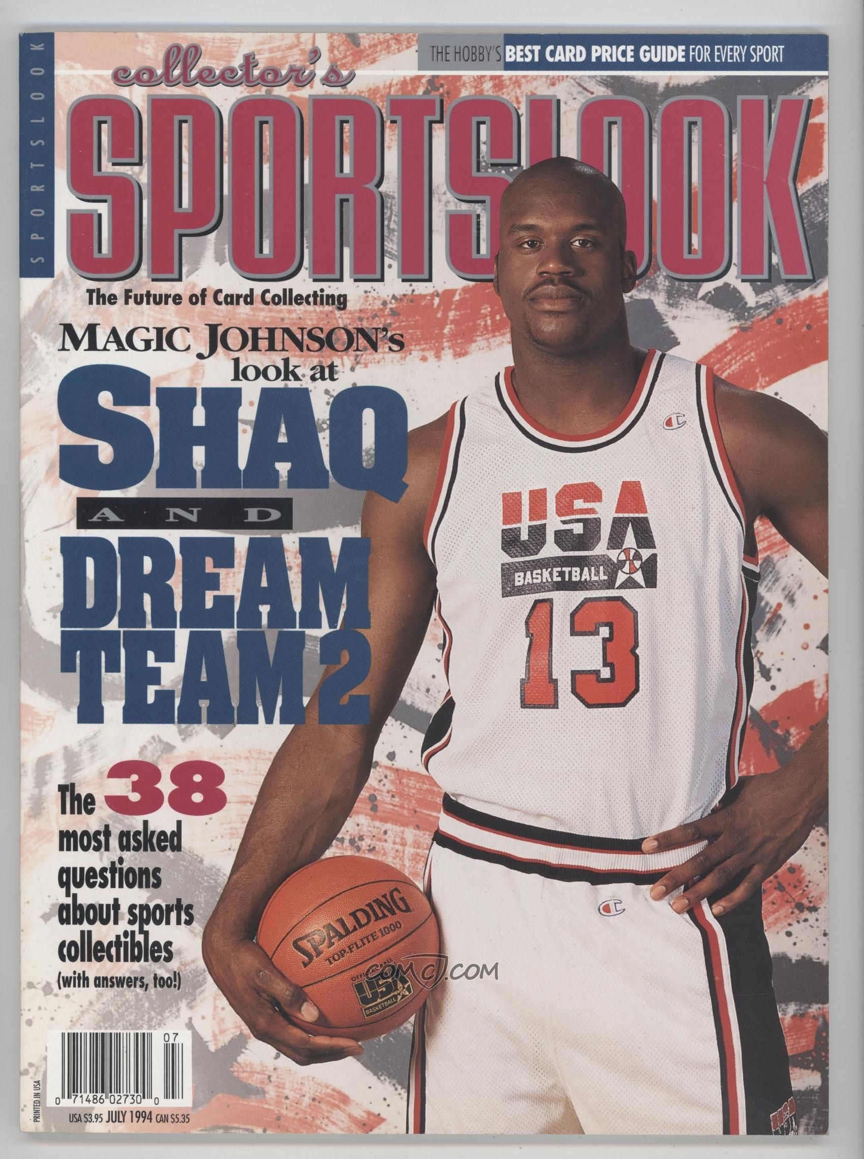 54ef46df4ba Shaquille O neal Collector s Sportslook Magazine