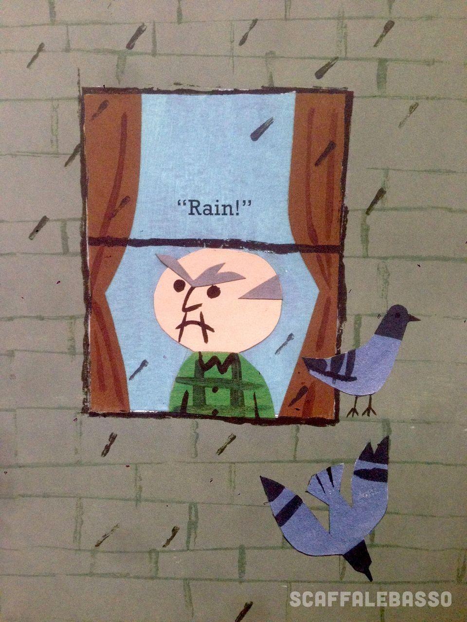 Christian Robinson, Rain!, Houghton Mifflin http://www.scaffalebasso.it/mercoledi-al-cubo-consigli-per-le-vacanze/