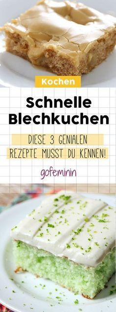 Schneller Kuchengenuss: So leicht zauberst du 3 leckere Blechkuchen-Rezepte #quickcookies