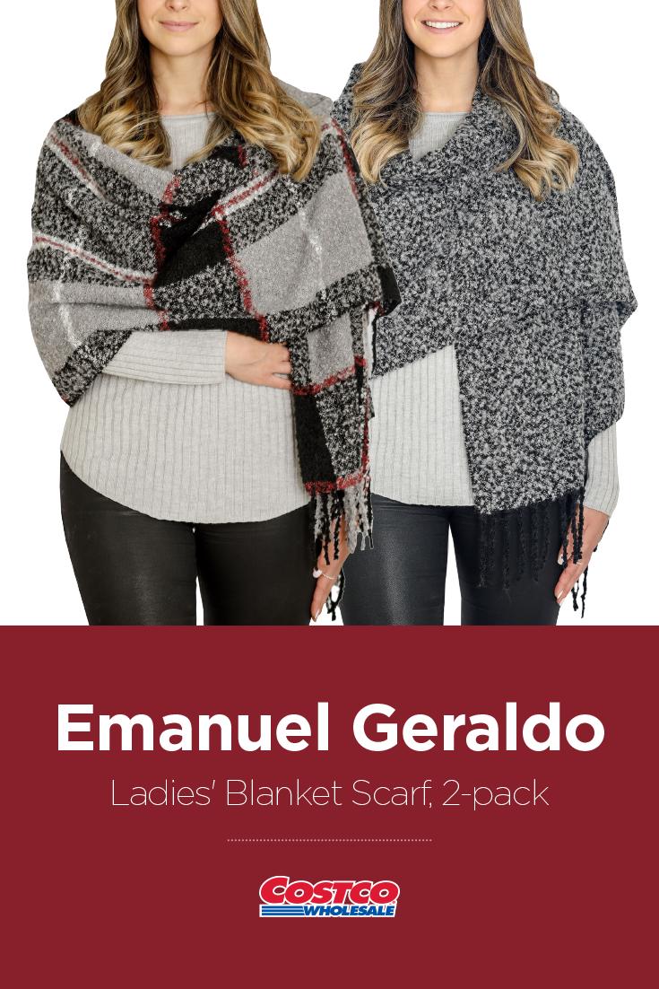 ba92b734af Emanuel Geraldo Ladies  Blanket Scarf