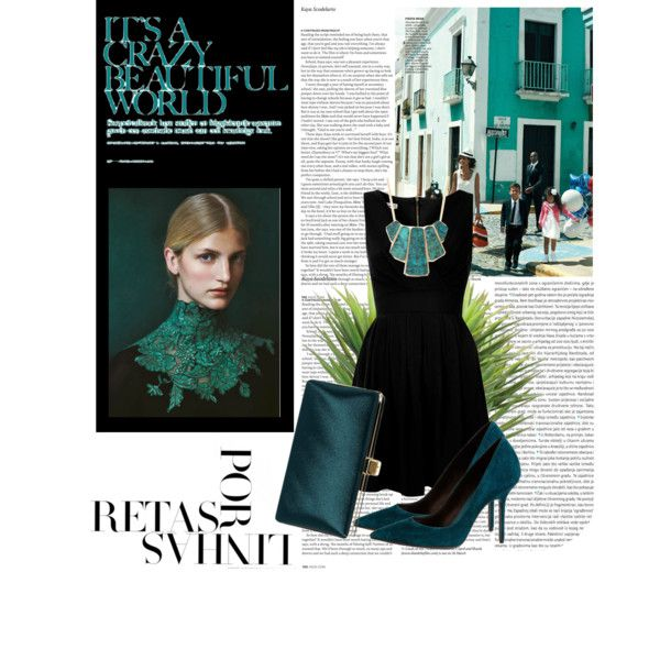 turquoise set by krikrisz on Polyvore featuring WalG, Burberry, La Isla, Oris, Péro and ASOS