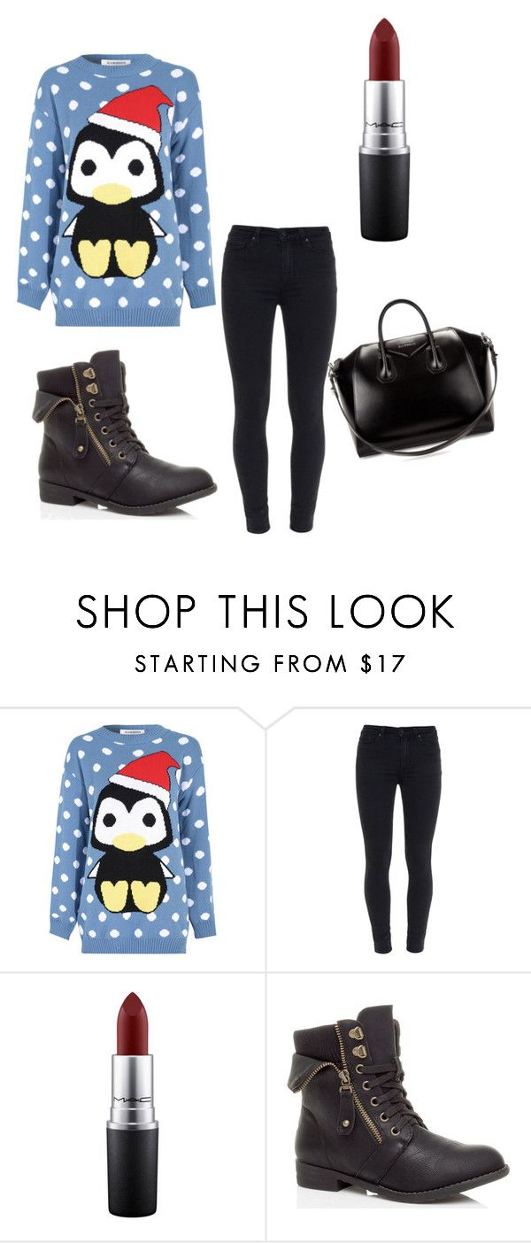 """Untitled #8"" by ismaaaa ❤ liked on Polyvore featuring beauty, Glamorous, Paige Denim, MAC Cosmetics and Givenchy"