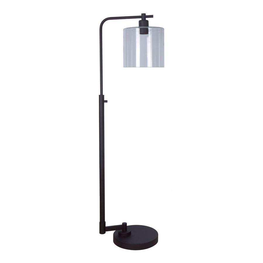 allen + roth Tapsley 57.5-in Bronze Downbridge Floor Lamp with ...