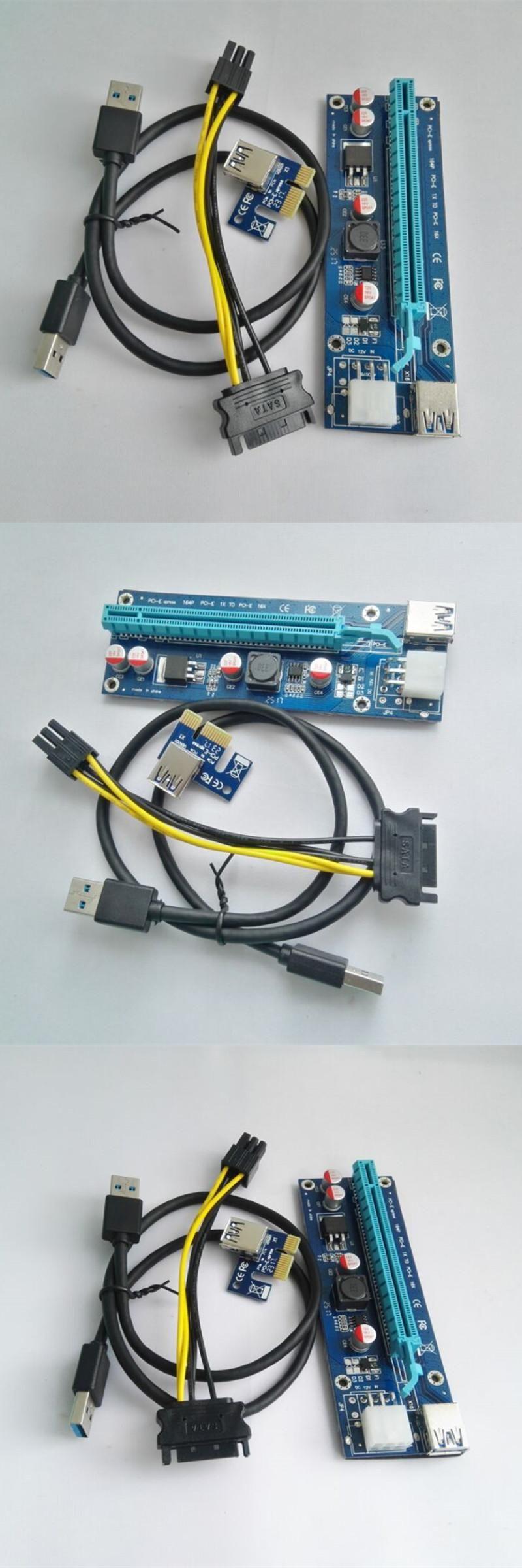 Visit to Buy] Premium quality 60cm PCI-e express 1x to 16x Extender ...