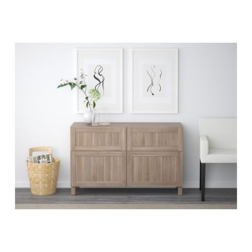IKEA   BESTÅ Storage Combination W Doors/drawers Walnut Effect Light