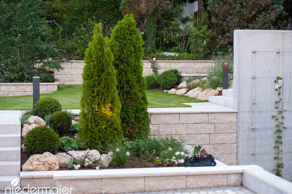 Terassengarten Gartendesigns Niedermaier Garten Freiraume Gmbh Purfing Vaterstetten Bei Munchen Garten Garten Design Garten Ideen