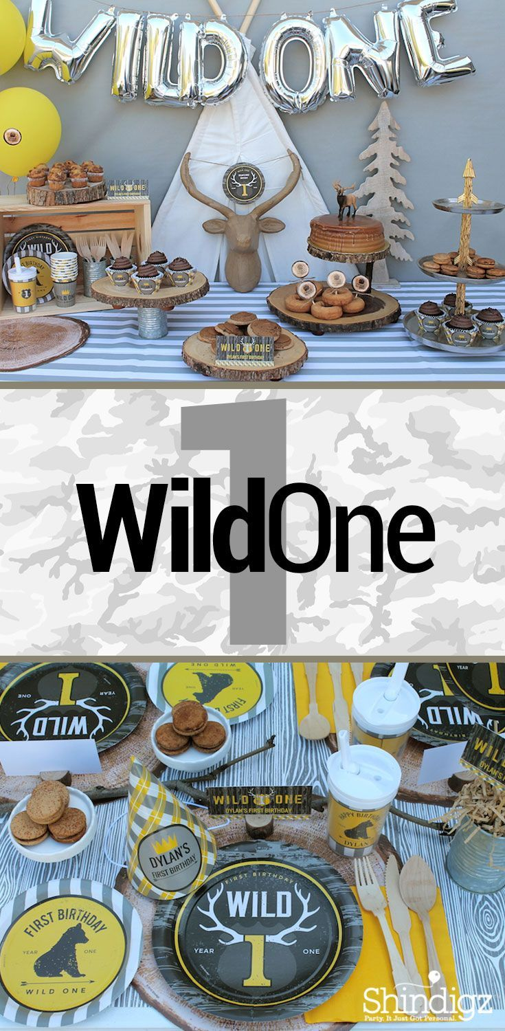 Have A Wild 1 Year Old Celebrate Their Birthday With A Wild One 1st Birthday Party Just Li Wild One Birthday Party Boy Birthday Parties First Birthday Parties