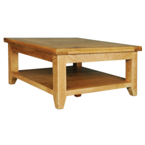 Vancouver Oak Va015 Square Coffee Table With Shelf Www Easyfurn Co