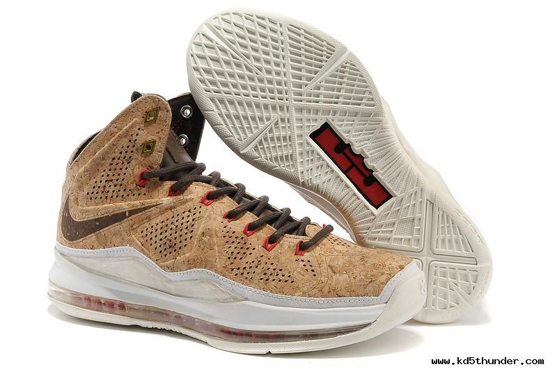f1c3d1758b3f2 Nike Sportswear LeBron X Cork Classic Brown/Classic Brown-University Red  580890-200